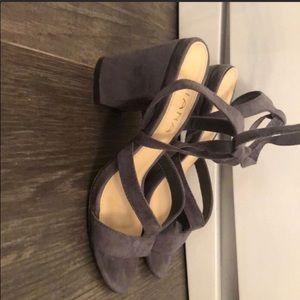 Shoes - Grey suede heels